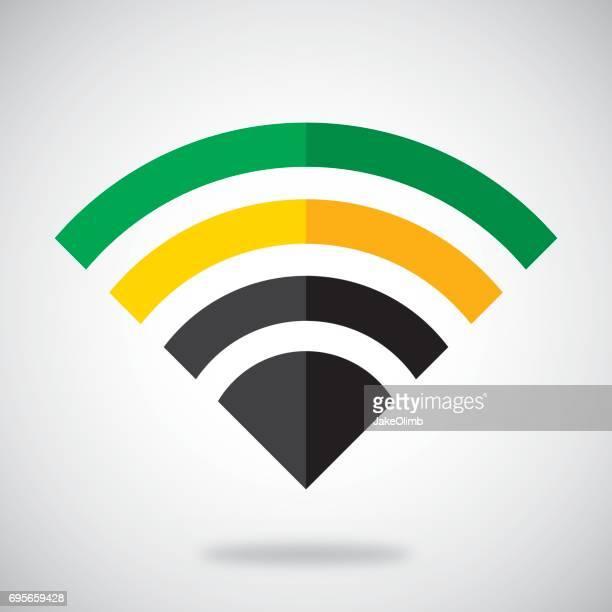 jamaica wifi - jamaican culture stock illustrations, clip art, cartoons, & icons