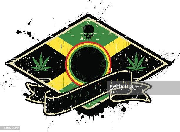 ilustrações de stock, clip art, desenhos animados e ícones de emblema da jamaica - reggae