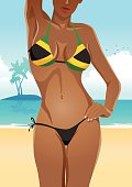 Jamaican Flag Bikini