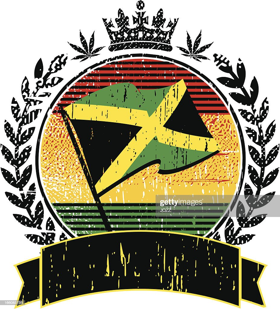jamaican flag emblem