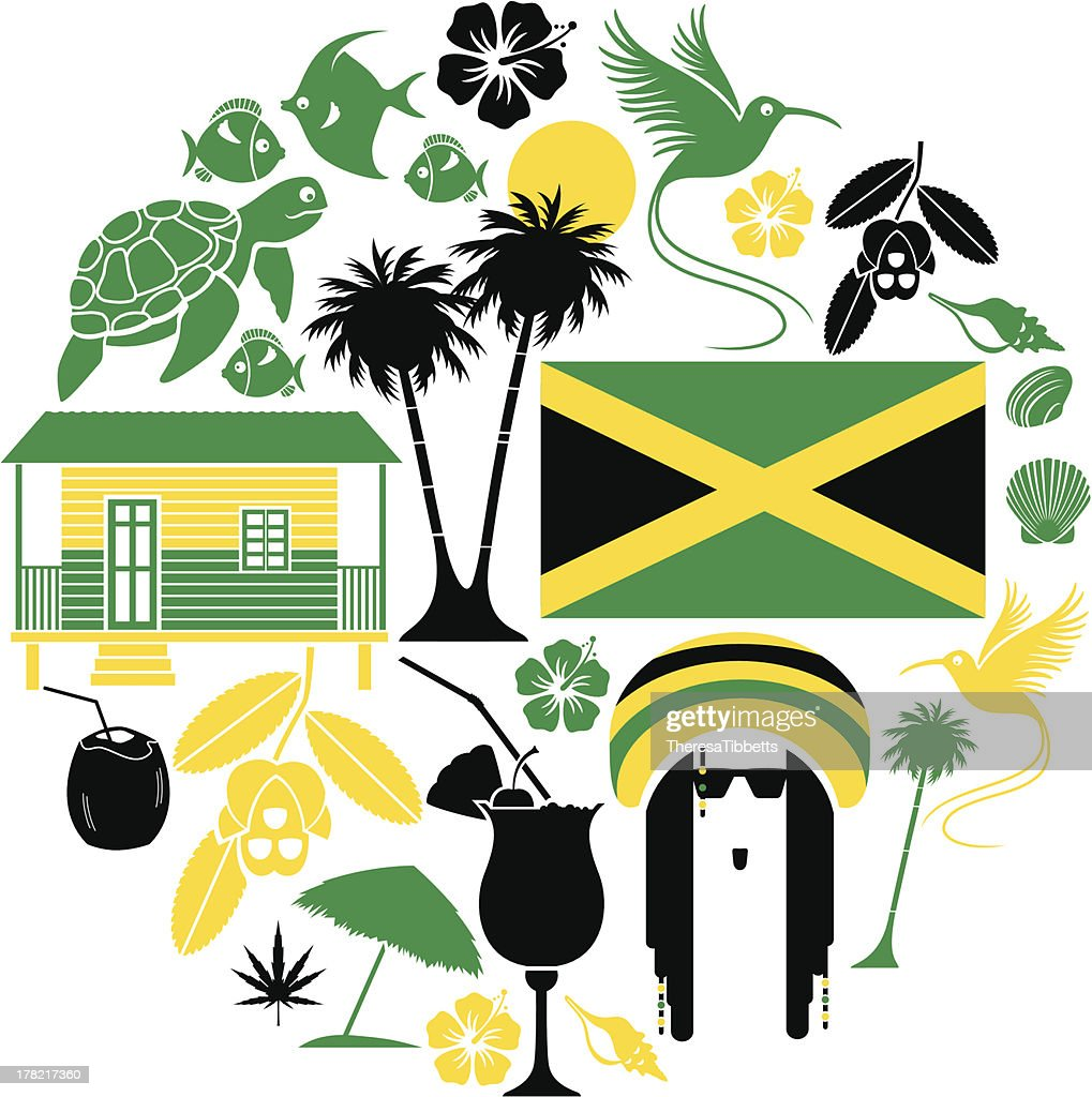 Jamaican Icon Set