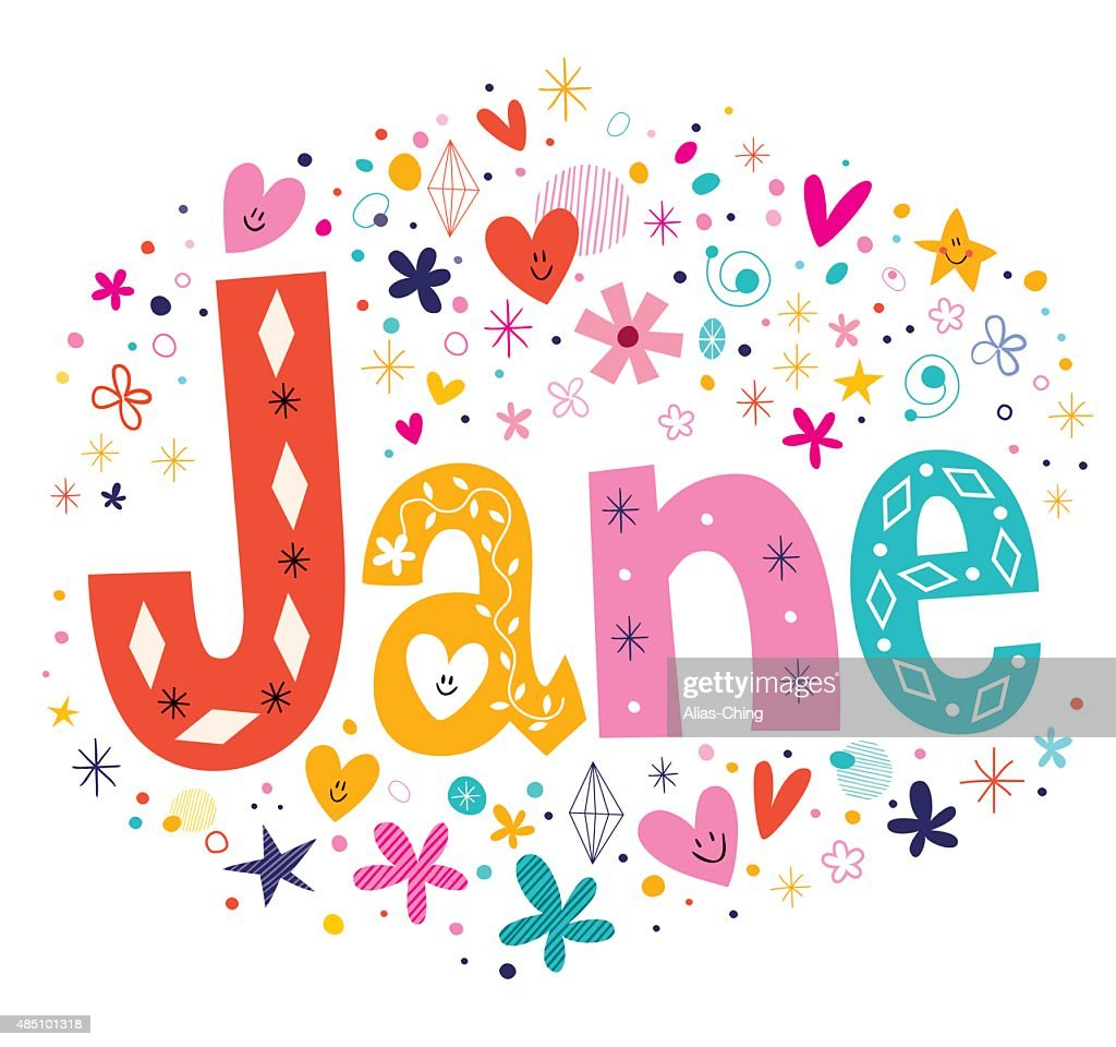 Jane - girls name design
