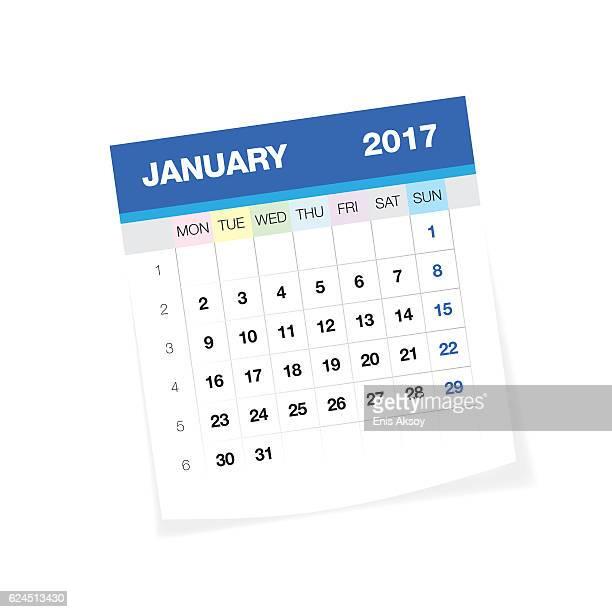 January 2017 Europan Calendar