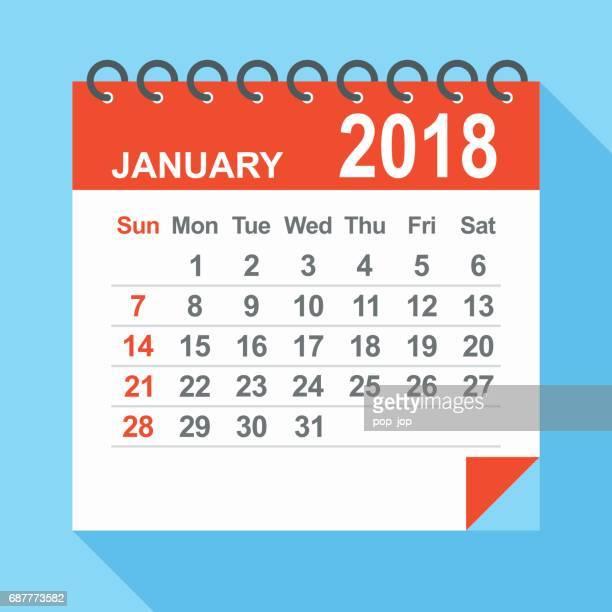 January 2018 - Calendar