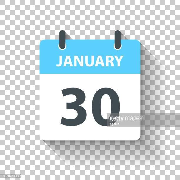 1月30日 - フラットなデザインスタイルで毎日カレンダーアイコン - 数字の30点のイラスト素材/クリップアート素材/マンガ素材/アイコン素材