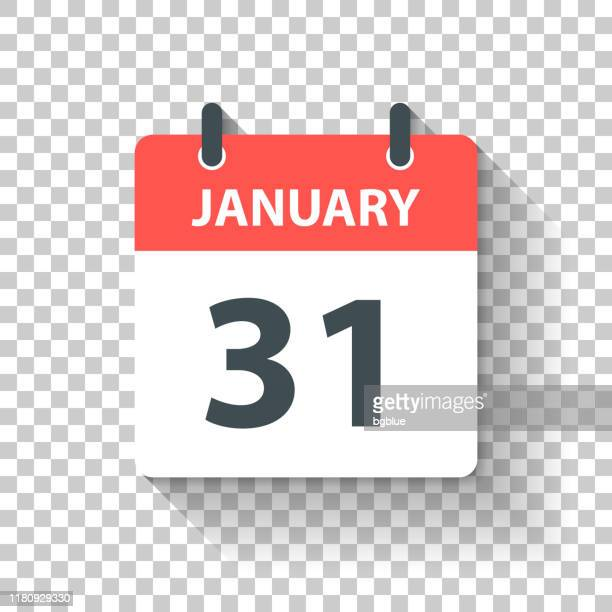 january 31 - daily calendar icon in flat design style - january stock illustrations