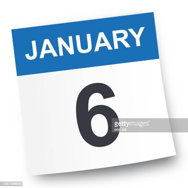 6. Januar - Kalender-Symbol