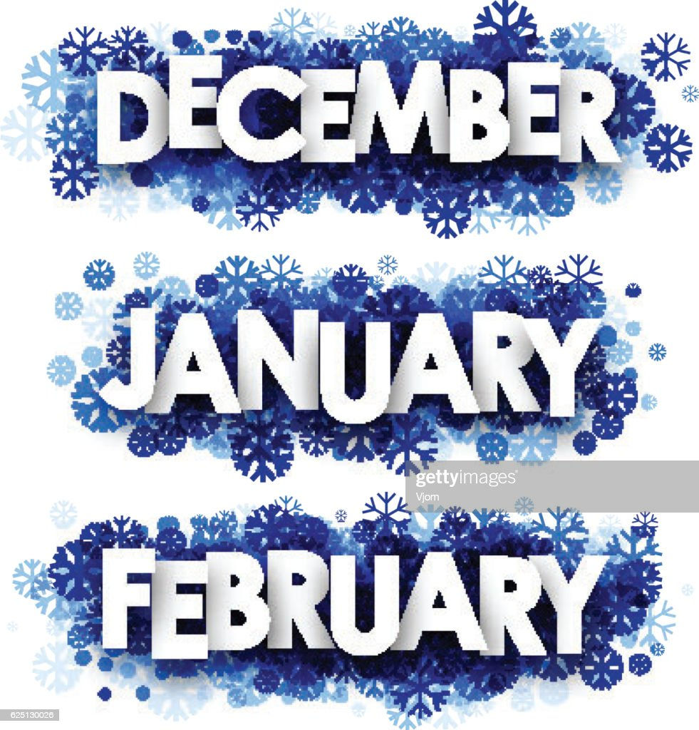 January, February, December banners.