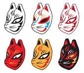 jaoanese fox mask six-type