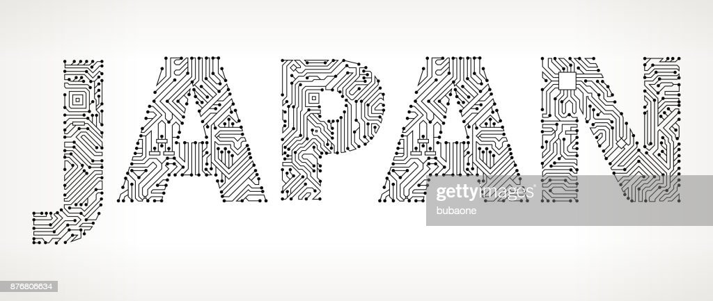 Japan Circuit Board Vector Buttons Vector Art | Getty Images