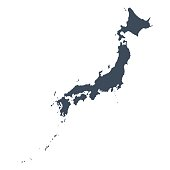 Japan country map