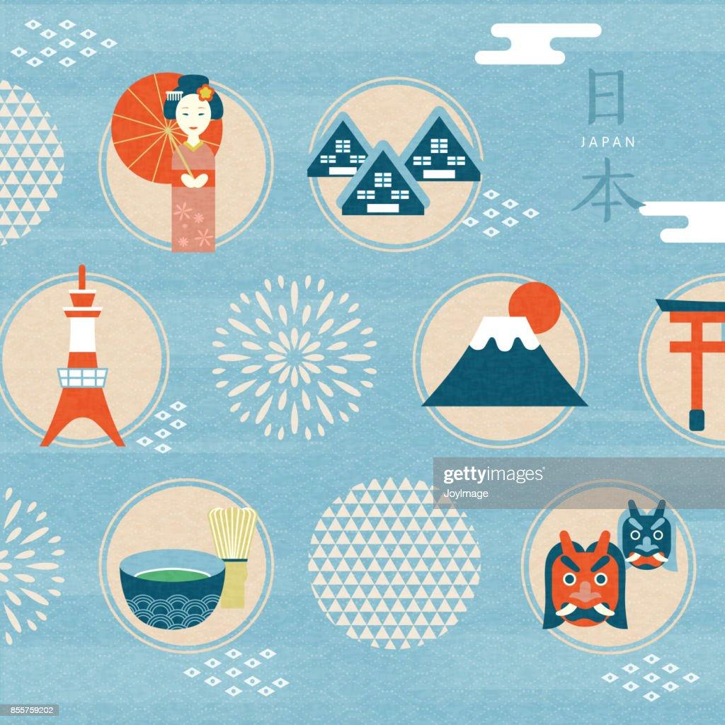 Japan culture symbol design