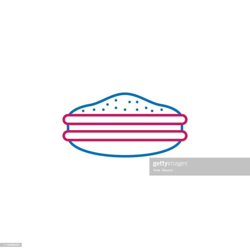 Japan, dorayaki icon. Element of Japan culture. Thin line 2 color icon for website design and development, app development. Premium icon