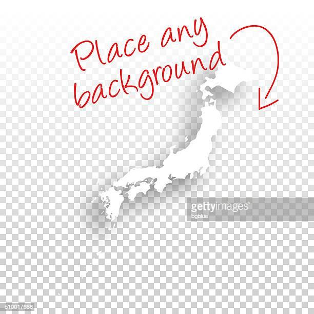 ilustraciones, imágenes clip art, dibujos animados e iconos de stock de mapa de japón para el diseño de fondo blanco - sea of japan or east sea
