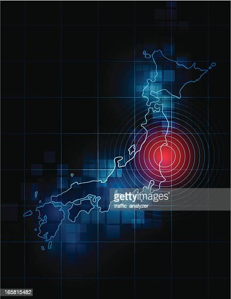 Japan map - Fukushima tragedy