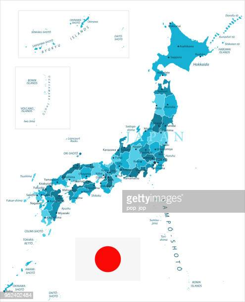31 - japan - murena spot isolated 10 - aichi prefecture stock illustrations