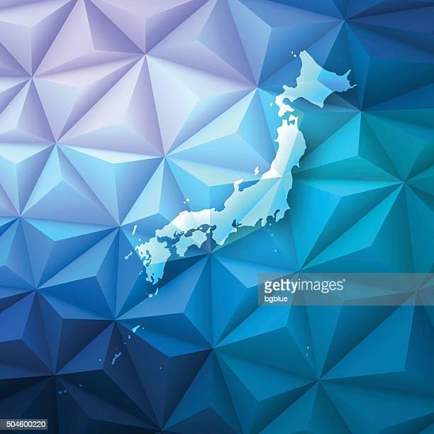 ilustraciones, imágenes clip art, dibujos animados e iconos de stock de japón en abstract polygonal fondo de tecnología, geométricas - sea of japan or east sea