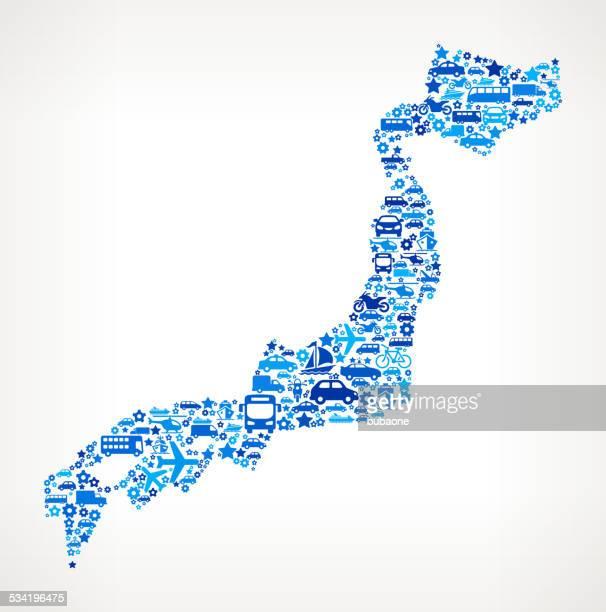Japan On Transportation royalty free vector art Pattern
