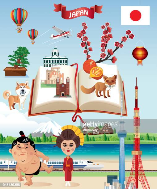 japan poster - hokkaido stock illustrations, clip art, cartoons, & icons