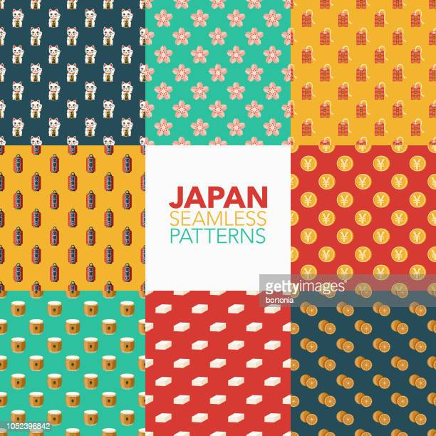 Japan Seamless Pattern Set