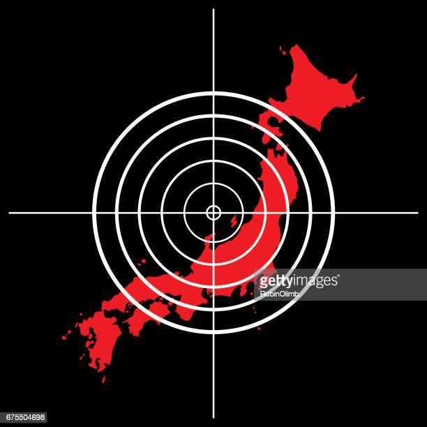 japan target icon - attacking stock illustrations, clip art, cartoons, & icons