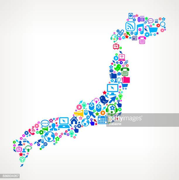 japan technology and internet royalty free vector art pattern - only japanese stock illustrations, clip art, cartoons, & icons