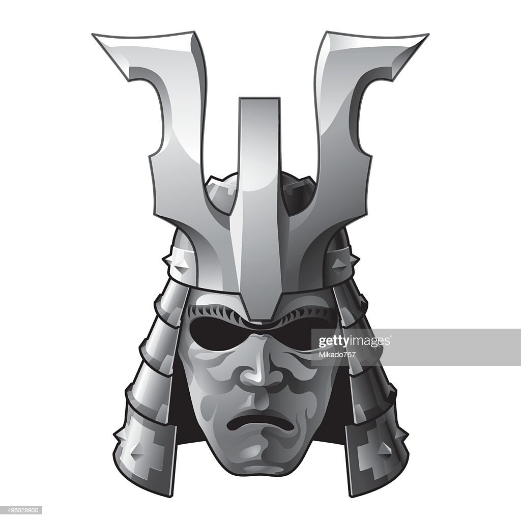 Japan traditional samurai helmet and mask