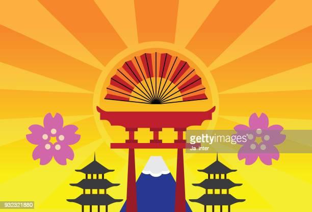 Japan reisen Wahrzeichen Hintergrund