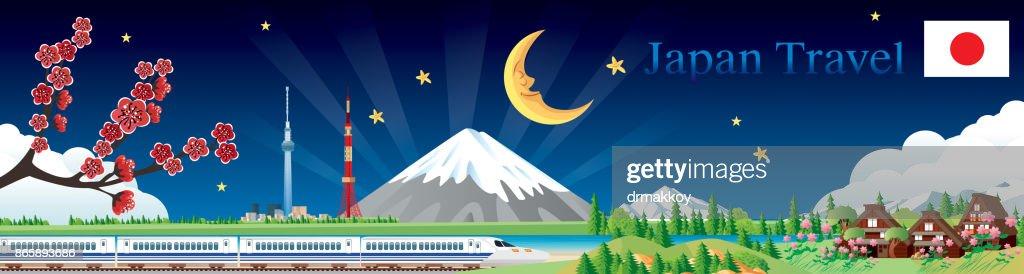 Japan travel : stock illustration