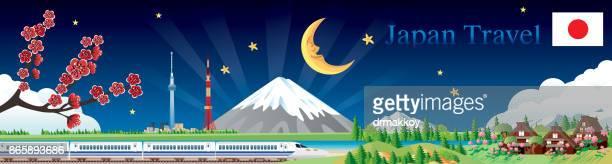 japan travel - nagasaki city stock illustrations, clip art, cartoons, & icons