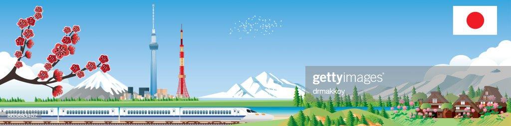 Japan travels : stock illustration