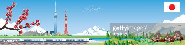 japan travels - hokkaido stock illustrations, clip art, cartoons, & icons