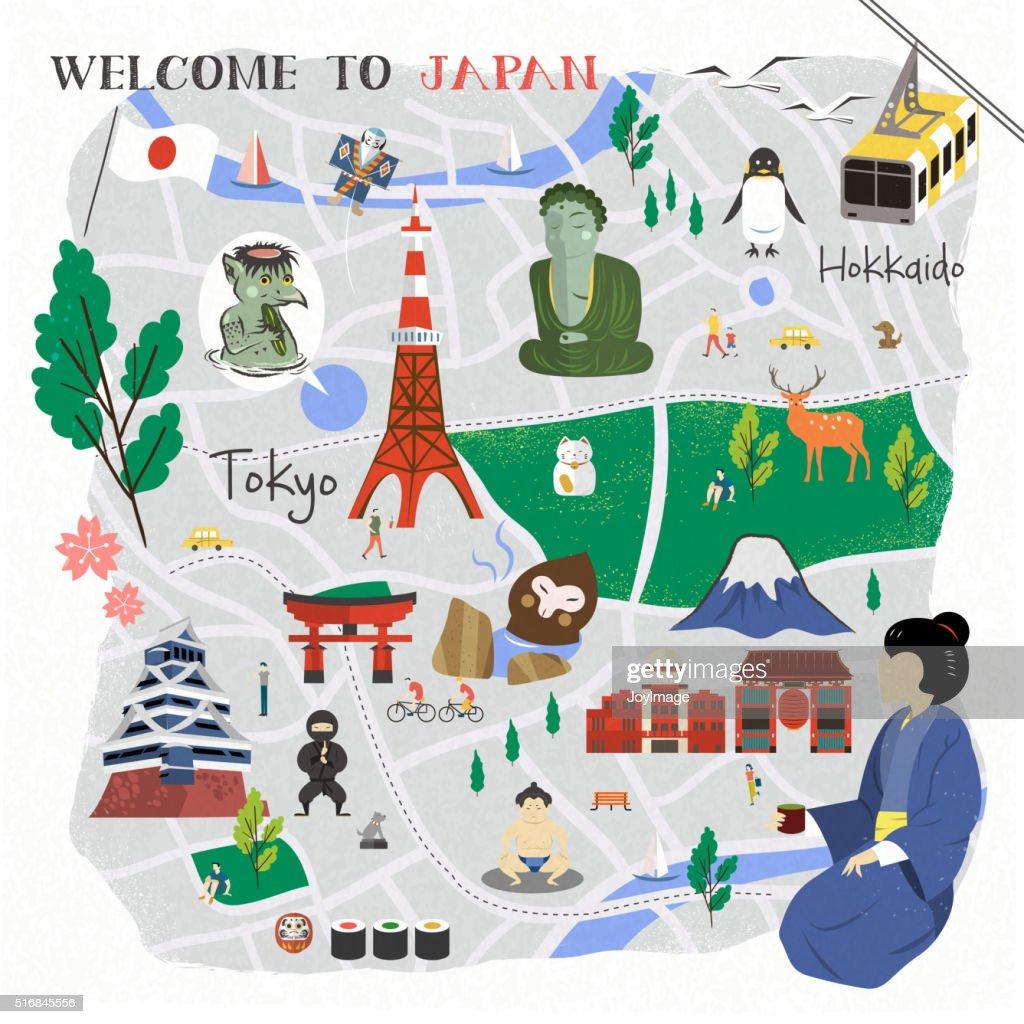Japan walking map