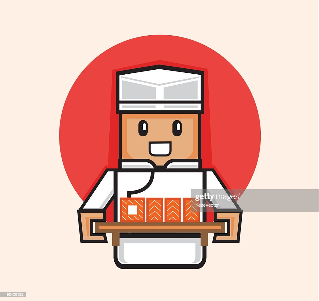 japanese chef serve sushi