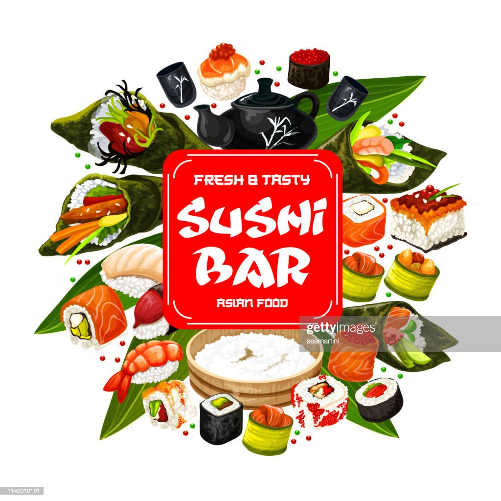 Japanese cuisine, sushi and roll bar