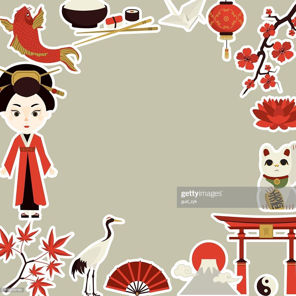 culture japonaise : Clipart vectoriel