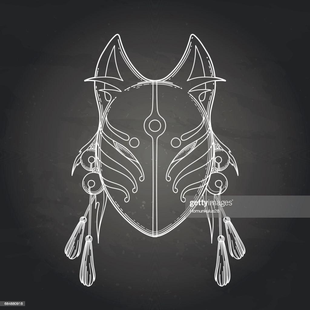 Japanese demon fox