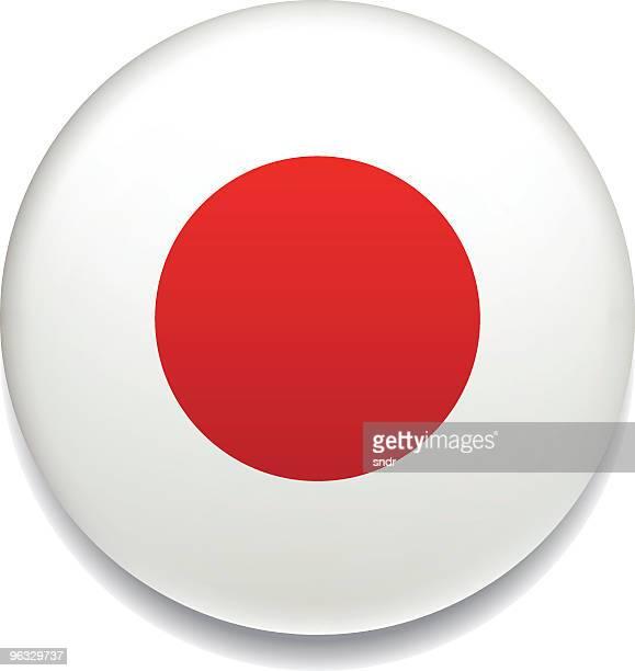 japanese flag vector button - japanese flag stock illustrations, clip art, cartoons, & icons