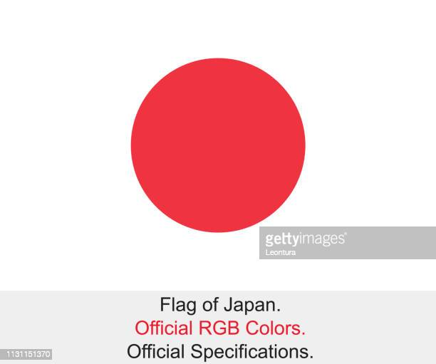japanese flag (official rgb colours, official specifications) - japanese flag stock illustrations, clip art, cartoons, & icons