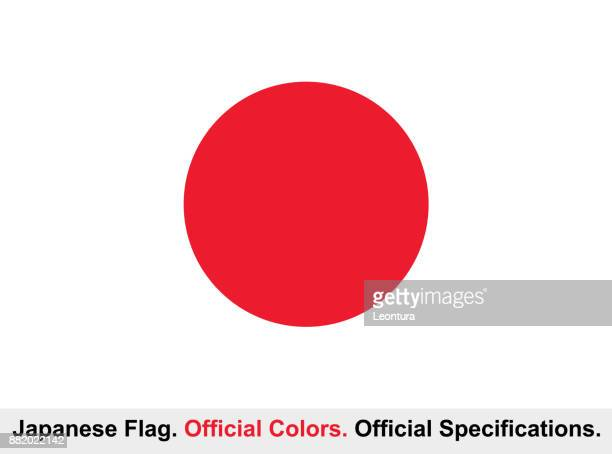japanese flag (official colors, official specifications) - japanese flag stock illustrations, clip art, cartoons, & icons