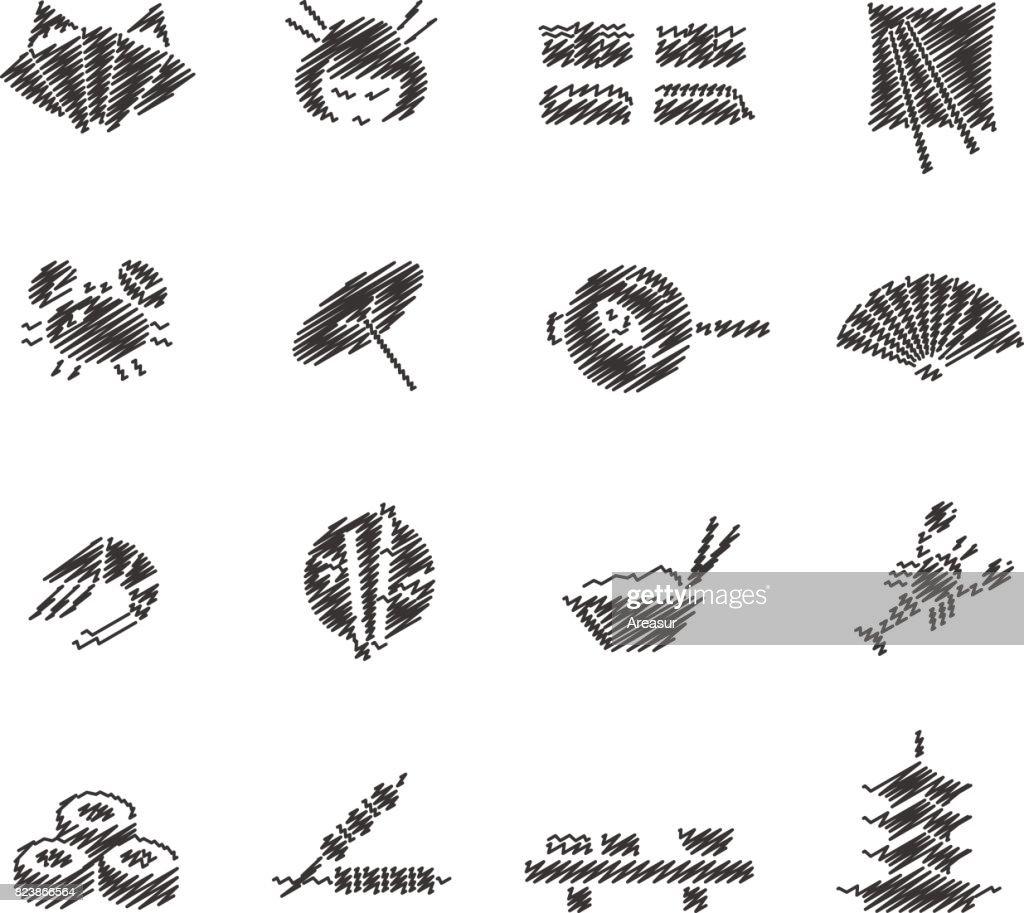 Japanese Food & Culture // Scribble series