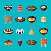 Japanese Food Flat Icons