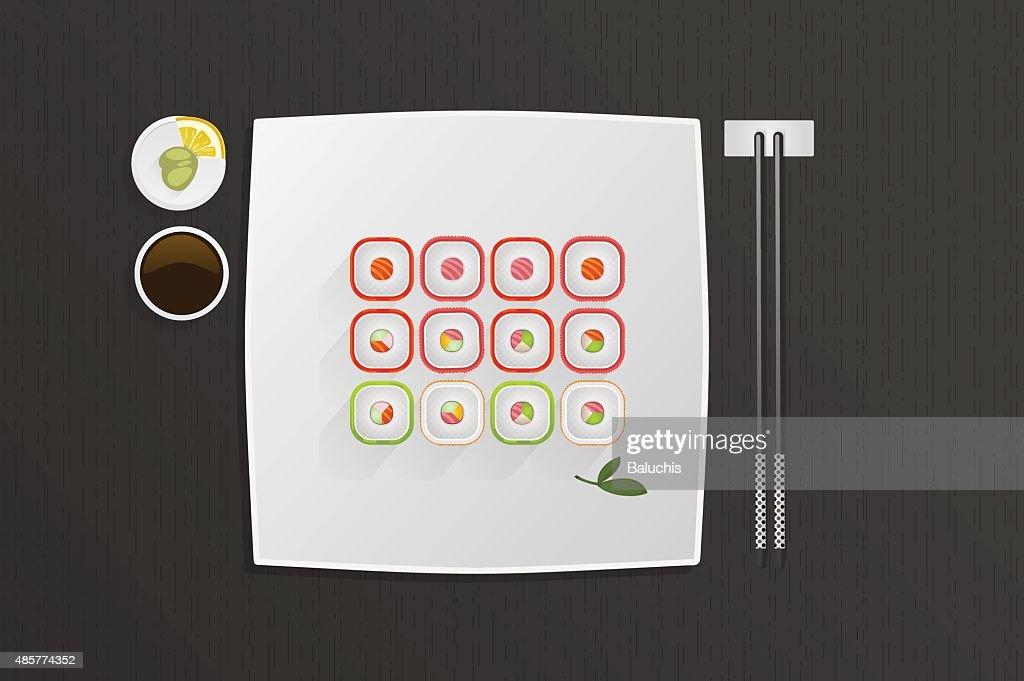 Japanese food illustration