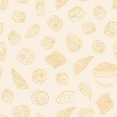 Japanese food pattern.