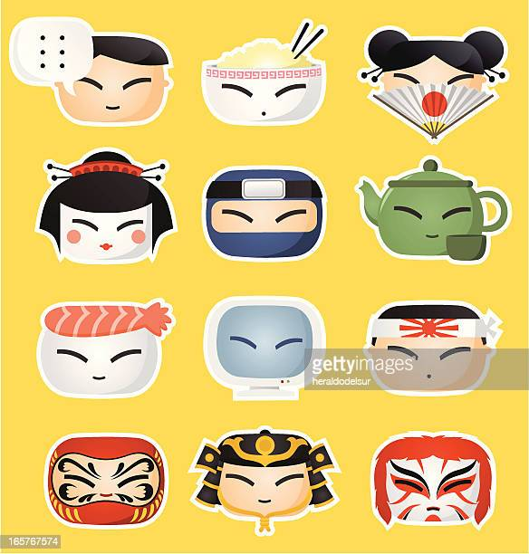 Japanese icon faces