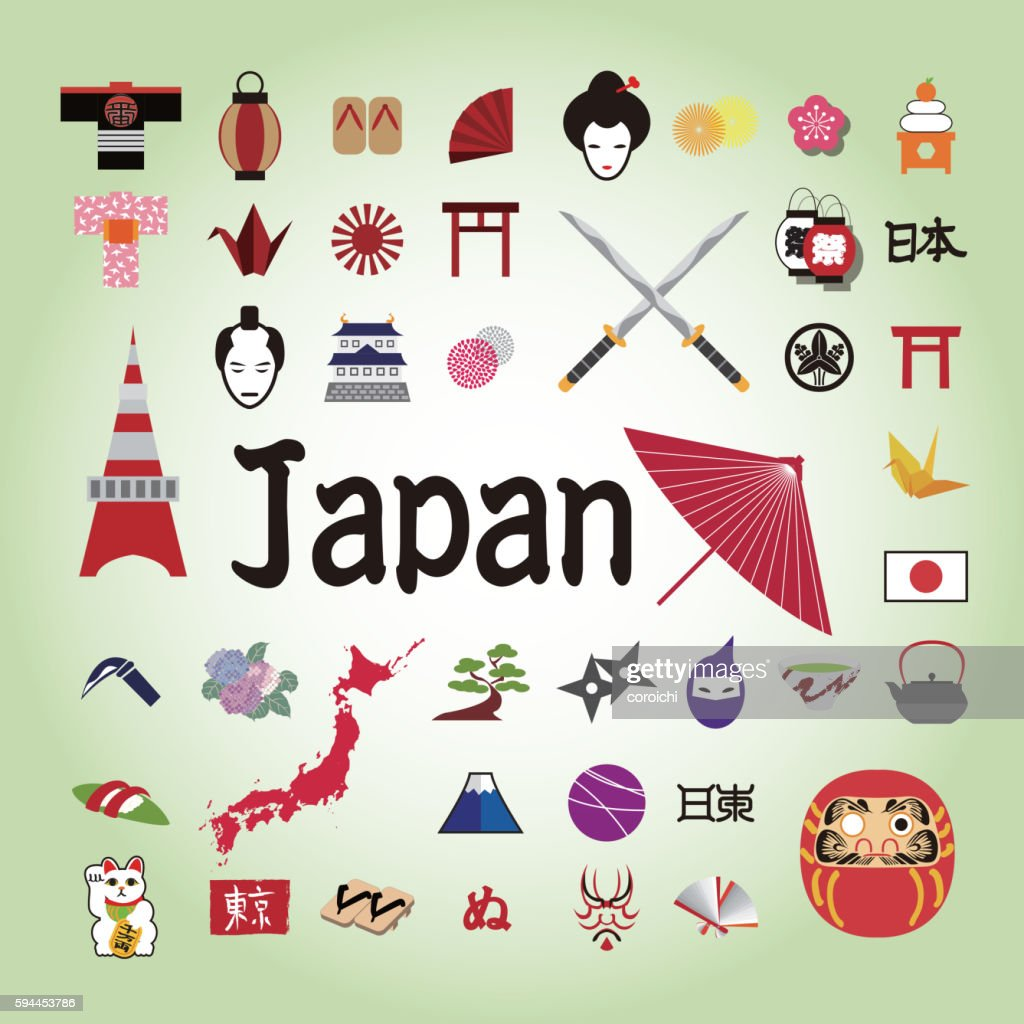 Japanese illustration icon.