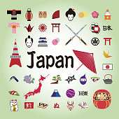 Japanese illustration icon.