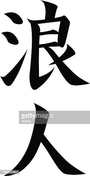 Japanese Kanji character RONIN
