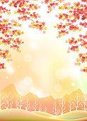 Japanese landscape in autumn