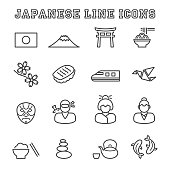 japanese line icons